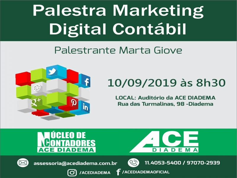 Palestra de Marketing Digital Contábil